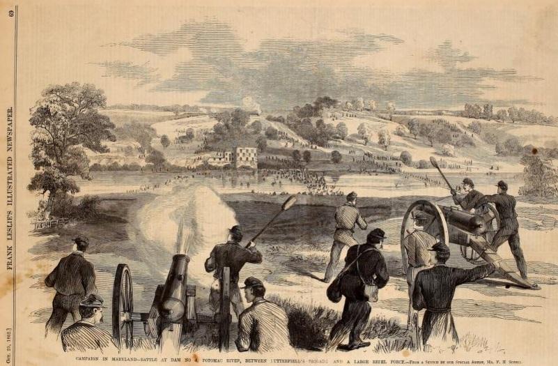 Battle of Shepherdstown_Sketch_Leslie's Illistrated